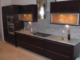 Kitchen Cabinet King Backsplashes Brown Mosaic Tile Backsplash Quartz Countertops