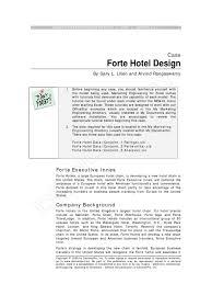forte hotel design case conjoint pdf hotel microsoft excel