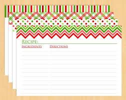 christmas recipe card template free editable template idea