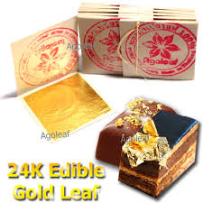 where to buy edible gold leaf 100pcs edible gold leaf sheets 24k 100 cake decoration
