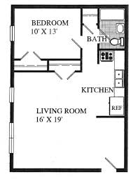 Granny Flat Floor Plans 1 Bedroom 1 Bedroom Trailer Floor Plans Dublin Village Apartments Photos