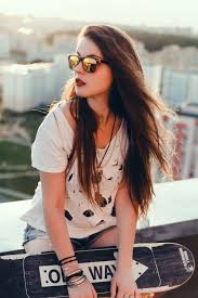 hipster girl hipster girl with skateboard photo free download