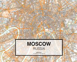 Moscow Russia Map Moscow Dwg Mapacad