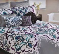 Teal And Purple Comforter Sets Cynthia Rowley Bedding Queen Bedding Design Ideas