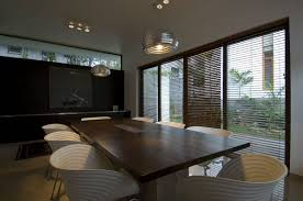 black wood cabinet glass doors modern dining room chandeliers