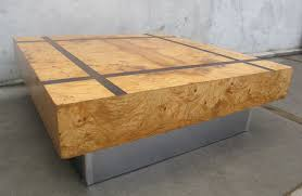 burl wood coffee table milo baughman burl wood square coffee table living room