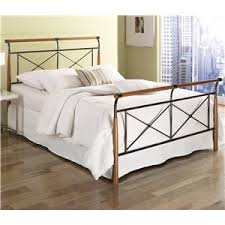 fashion bed group wood and metal beds king dunhill i bed w frame