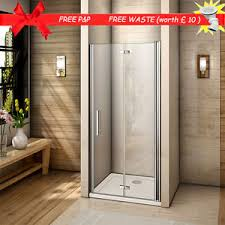 Frameless Bifold Shower Door Aica Frameless Bifold Shower Door Enclosure Tray Save Space 700