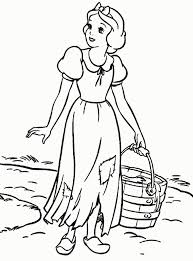 snow white coloring sheets snow white cartoon coloring pages