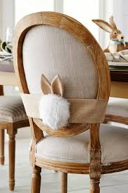bunny tail chair decor hard work easter and bunny