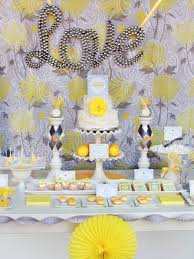 yellow and gray baby shower decorations images baby shower ideas