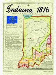 Indiana State Map Statehood Maps