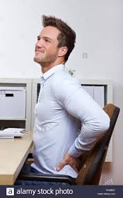 Office Chair Back Pain Man Back Pain Office Chair Stock Photos U0026 Man Back Pain Office