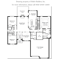 custom homes floor plans custom homes welch builders inc
