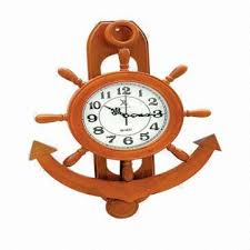 nautical wooden wall anchor clock global sources