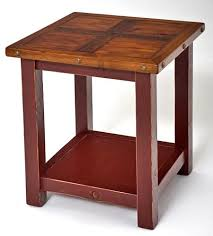 reclaimed wood end table cottage end table coastal painted nightstand rustic cabin