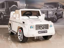 mercedes g55 ride on mercedes g55 amg 12v ride on car w remote white sunnyskytoys