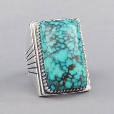 turquoise stone sterling silver ring with lone mountain turquoise stone shiprock
