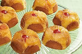 pineapple upside down mini cakes recipe