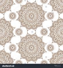 seamless brown pattern mandala henna mehndi stock vector 548762155