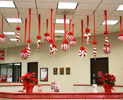 themed christmas decorations candy forest large candy canes made from poster board candy