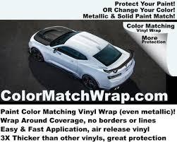 white 2018 chevy camaro vinyl wrap paint code match vinyl wrap