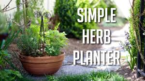 simple herb planter youtube