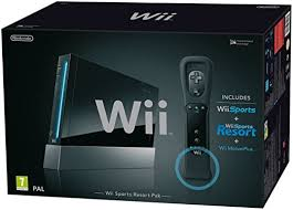 wii black friday amazon nintendo wii console black with wii sports wii sports resort