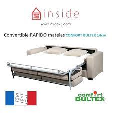 canapé convertible avec matelas bultex canape convertible confortable bultex banquette lit bultex canape