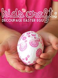 styrofoam easter eggs kids craft decoupage easter egg my poppet makes