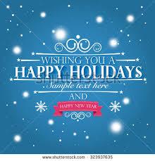 happy holidays merry happy new stock vector 326940536