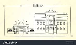 old house outline stock vector 722605036 shutterstock