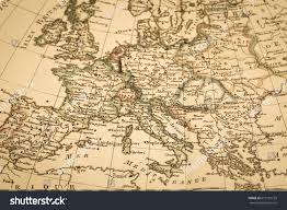 Old Europe Map by Antique Old Map Europe Stock Photo 615191159 Shutterstock