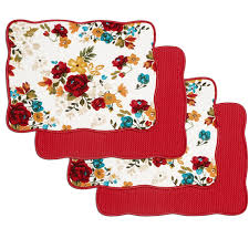 pioneer woman timeless floral dish drying mats pack of 4