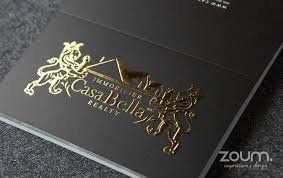 Stamped Business Card Metallic Foil Stamping By Zoum