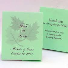 wedding seed favors mint green wedding seed favors plant a memory favors gifts
