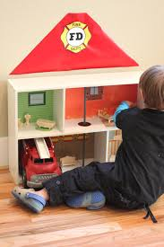 bookshelf fire station crafts kids pinterest doll houses