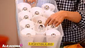 how to organize light bulbs