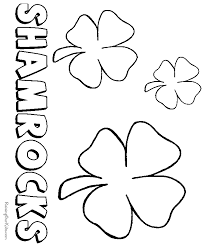 shamrock template free coloring home