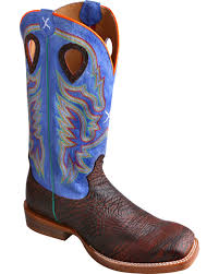 twisted x s boots twisted x ruff stock royal blue cowboy boots square toe boot barn