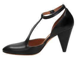 céline mary janes heels pumps shoes in black leather italian