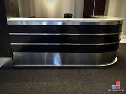 Metal Reception Desk Re Faced Reception Desk Willsëns Architectural Millwork Aurora On