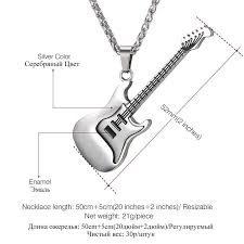 stainless steel guitar necklace images Stainless steel guitar pendant necklace soundicious jpg