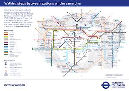 Underground Map There U0027s A New London Tube Map Showing Your Number Of Steps Between