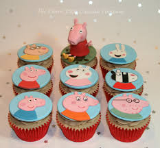 peppa pig cupcakes celebration and novelty cupcake ideas 21st party ideas