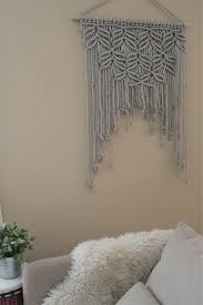 large modern macramé wall hanging wall art wall tapestry home