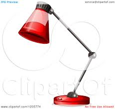 Red Desk Lamp by Cartoon Of A Red Desk Lamp Royalty Free Vector Clipart By
