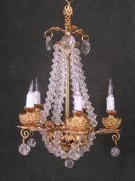 Miniature Chandelier Crystal Lighting Studebaker Miniatures Vintage U0026 Artisan Dollhouse