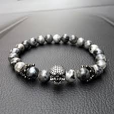 stone beaded bracelet images Royal skull natural labradorite stone beads bracelet ancient jpg