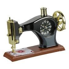 sewing machine shape alarm clock vintage decor desk clocks
